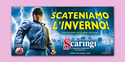 """Poster Scaringi """"Scateniamo l'inverno"""" composite"""